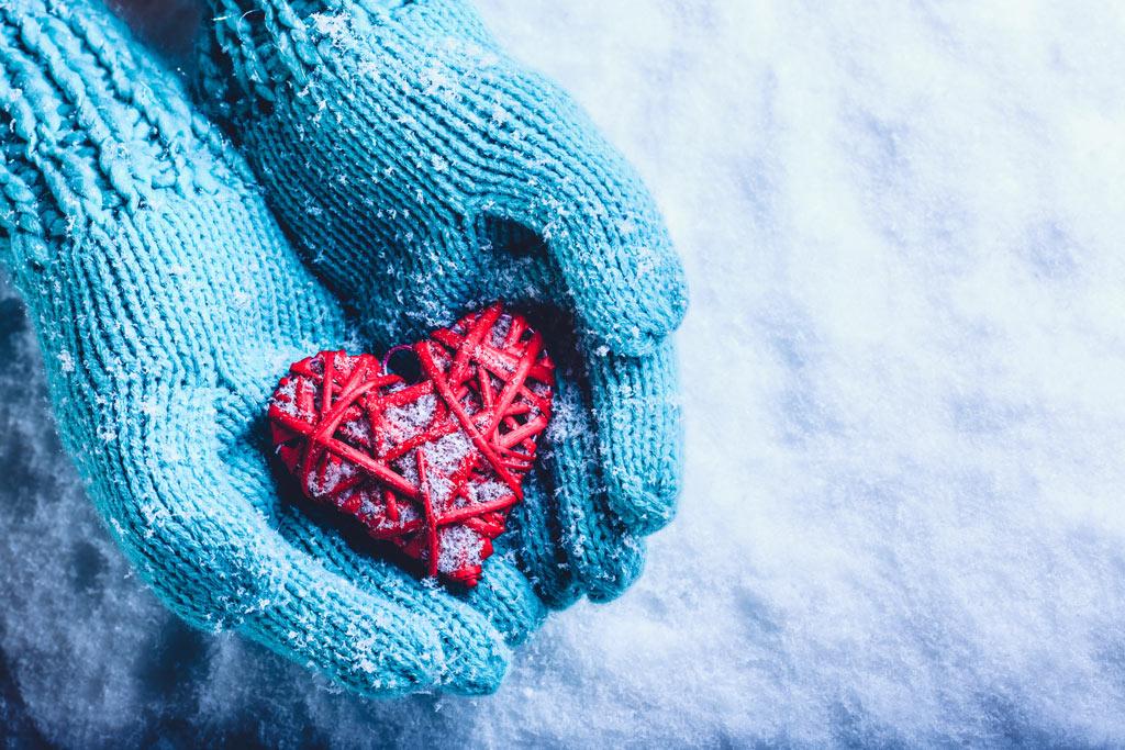 Heatr on gloves, winter